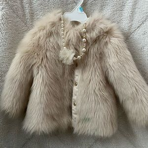 $20 Elegant Kids Fur Coat
